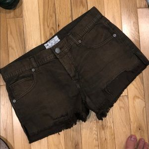 Free people denim jean shorts bottom pants